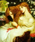 Dante Gabriel Rossetti (1828-1882)  Lady Lilith  Oil on canvas, 1868  81.3 x 95.3 cm (32.01